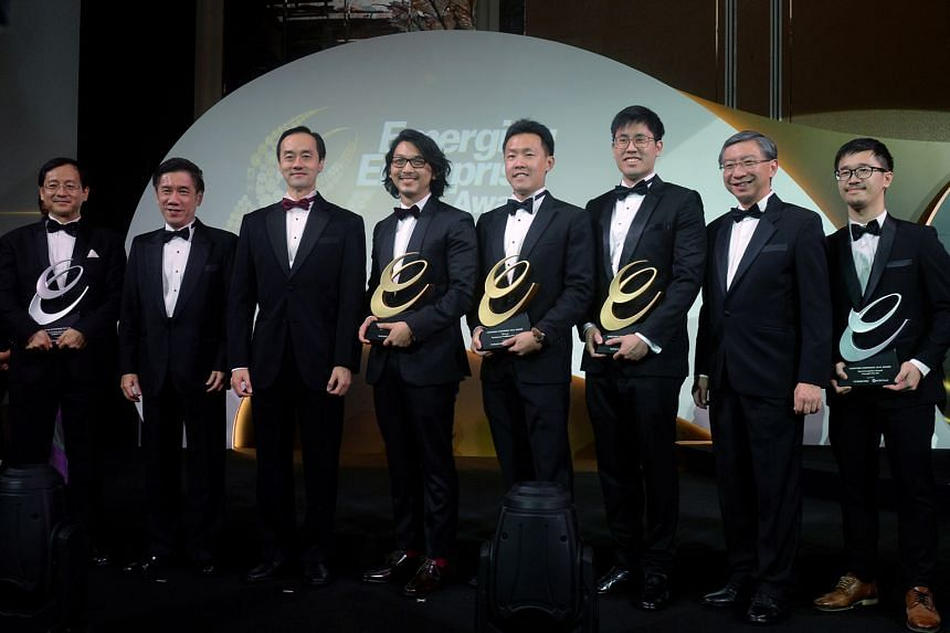 (From left) Mirxes founder Too Heng-Phon, Business Times editor Alvin Tay, Minister of State (National Development and Trade and Industry) Koh Poh Koon, Benjamin Barker managing director Nelson Yap, Ecommerce Enablers CEO Henry Chan, Innovfusion proj