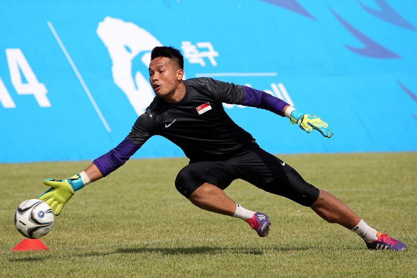 """National goalkeeper Hassan Sunny, the only Singaporean player in the Thai Premier League, said: """"It's going to be tough for Singaporeans to come over. I don't think you will see the bulk of them moving over."""""""