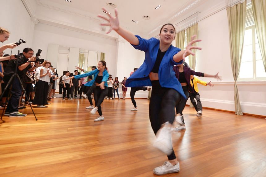 Dancers from The Royal Dance-Off performing at the media launch of Got To Move last week at The Arts House.