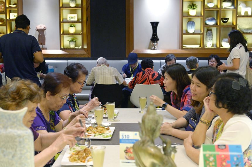 A trip to the mall last Friday was a welcome break for 40 seniors. During the trip - organised by the Singapore Press Holdings (SPH) Staff Volunteers Club and supported by The Seletar Mall - the seniors enjoyed a specially arranged lunch of Pad Thai