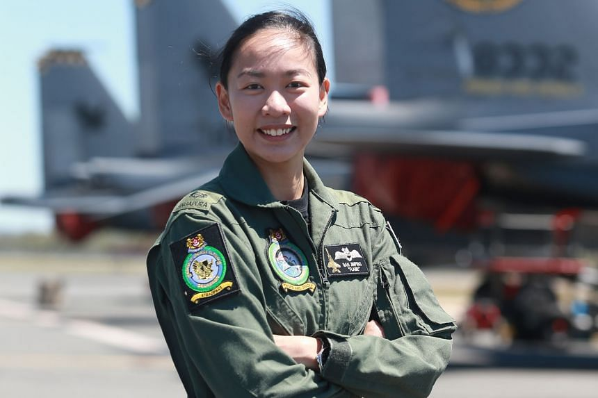 Major Nah says one thing she enjoys about flying is seeing the night view of Singapore as she returns to base after a mission.