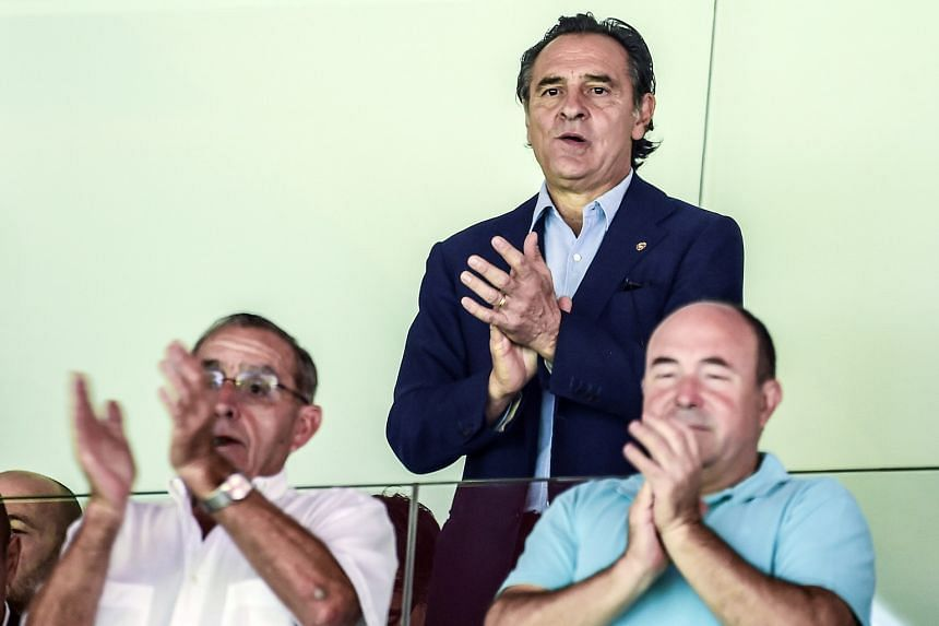Valencia's incoming coach Cesare Prandelli at the La Liga match against Atletico Madrid. The Italian led his nation to the final of Euro 2012.