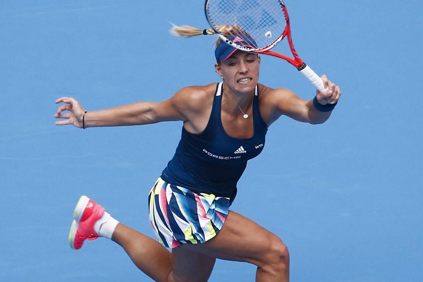 Tennis world No. 1 Angelique Kerber credits an improved demeanour on court for her stellar season this year.
