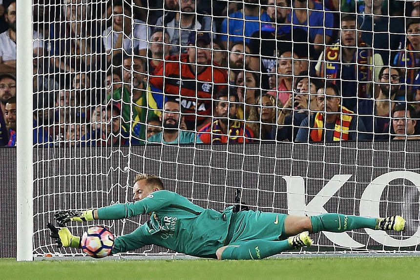 Marc-Andre ter Stegen, seen here against Atletico Madrid last month, has vowed not to change his playing style.
