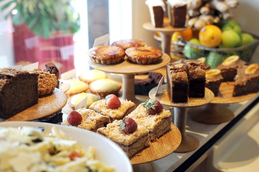 Get your fresh bakes (above) from the two-month-old Plain Vanilla bakery at Cluny Court.