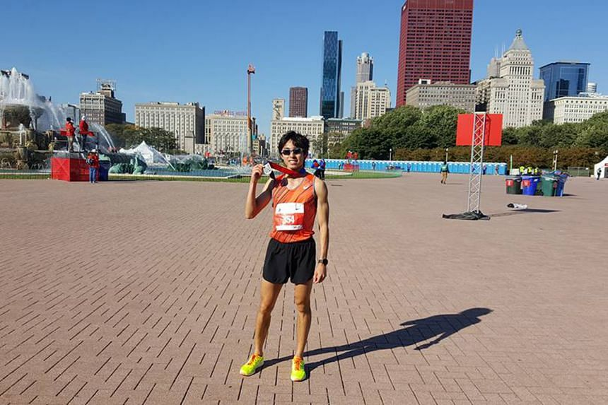 Soh Rui Yong came within 33 seconds of the national record when he clocked 2hr 24min 55sec in Chicago. His time also sees him qualify for the SEA Games in Kuala Lumpur next year.