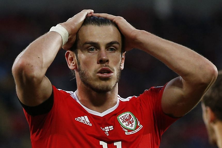 Gareth Bale looking dejected after Georgia stole a point in the match, which Euro 2016 semi-finalists Wales were expected to win easily.