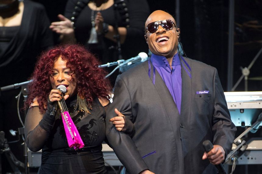 Queen of funk Chaka Khan performed at the tribute to Prince with soul legend Stevie Wonder. Prince's ex-wife, choreographer Mayte Garcia, did an elegant belly-dance.