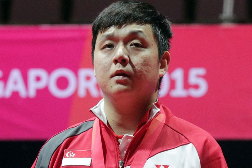 Li Hu was asked to sign a resignation letter prepared by the Singapore Table Tennis Association. It is dated Oct 14.