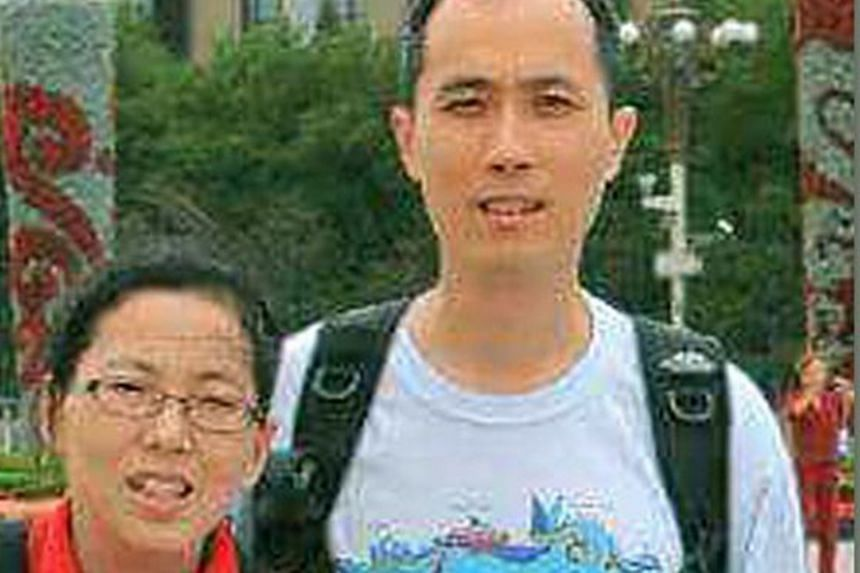 Stock investor Wang Chan Foo was found on a ledge above the ground floor of a block in Novena Suites, a condominium in Moulmein Road, last Saturday. His wife Ng Soo San, a part-time accountant, was found in a 13th-floor unit in the same block with st