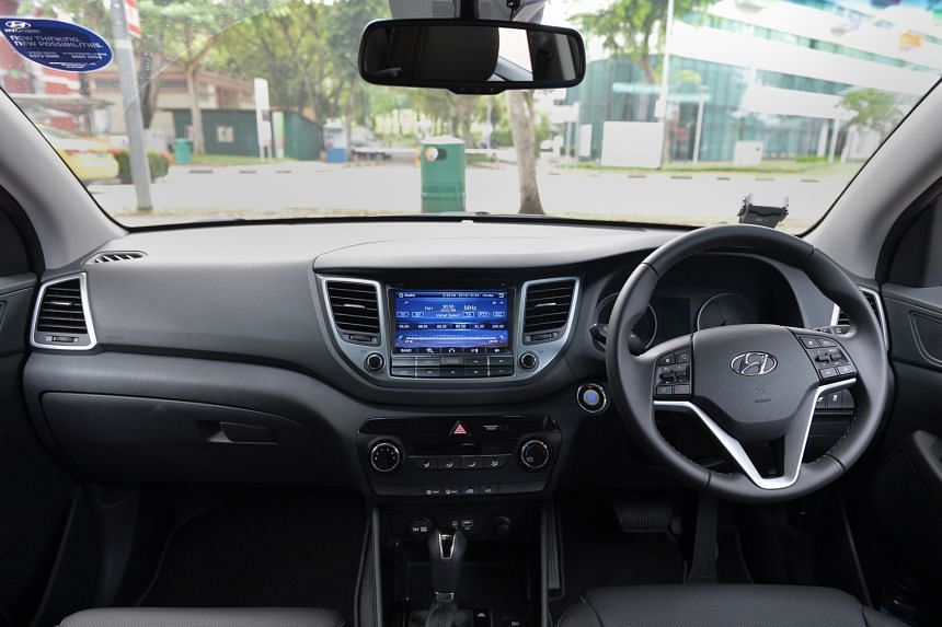 The Hyundai Tucson 1.6T (above and above left).
