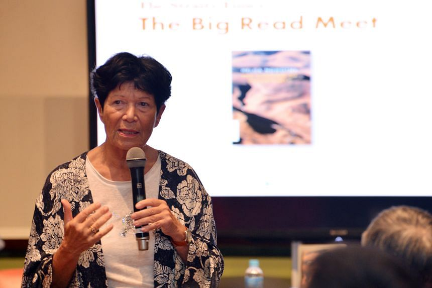 Austrian sociologist Helga Nowotny sharing her insights with readers at The Big Read Meet.