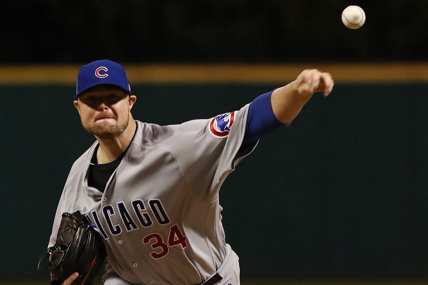 Cubs star Jon Lester pitching in the World Series Game 1 loss against the Indians. The two-time World Series champion returns to the mound in Game 6, which Chicago have to win to keep their title dreams alive.