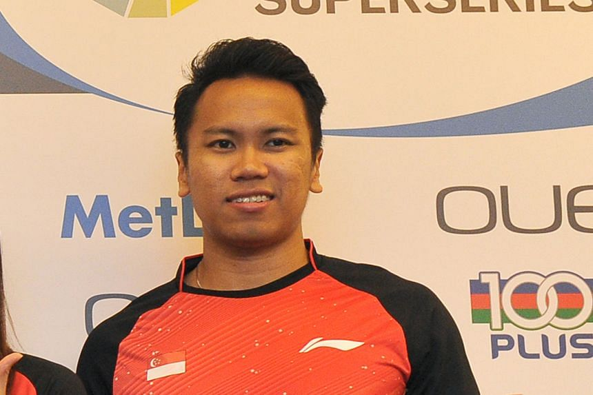 Singapore's Danny Bawa Chrisnanta (above) and Hendra Wijaya beat the top seeds in the semi-finals en route to the Hungarian International men's doubles title.