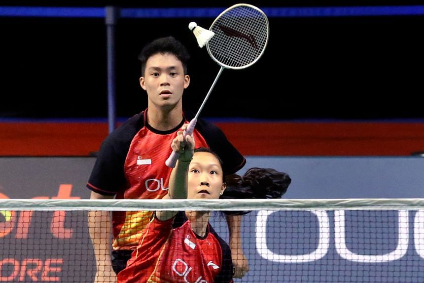 Singapore's Terry Hee and Tan Wei Han, the top seeds, took just 25 minutes to wrap up the mixed doubles final.