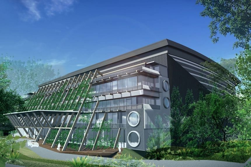 An artist's impression of the Technology Centre for Offshore and Marine Singapore facility at the National University of Singapore, which is due to be completed in 2019. The Government will invest close to $107 million into infrastructure at the cent