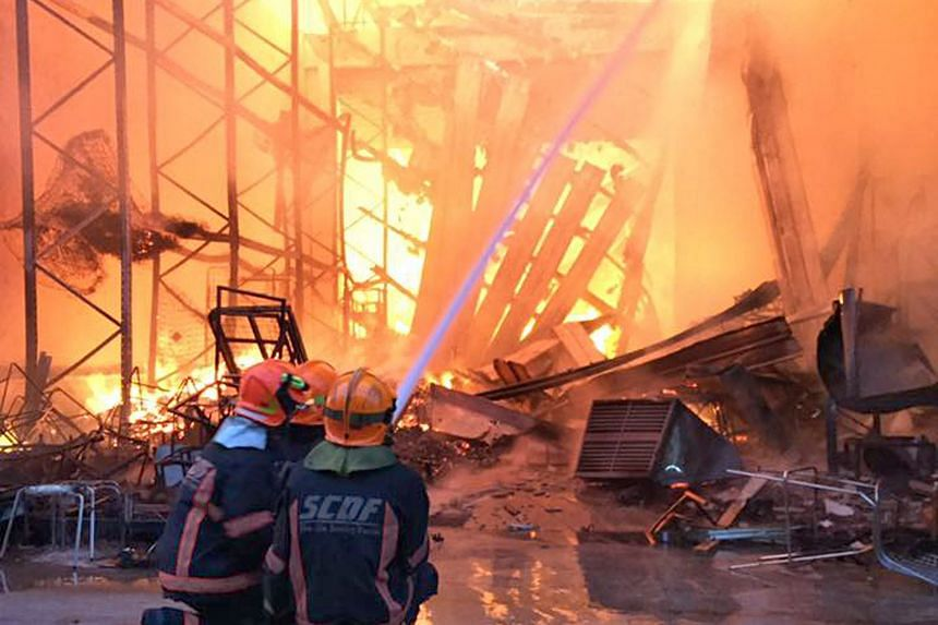 The blaze was extinguished at about 8am, but there were still pockets of fire. Damping-down operations continued for a few more hours to prevent the fire from rekindling.