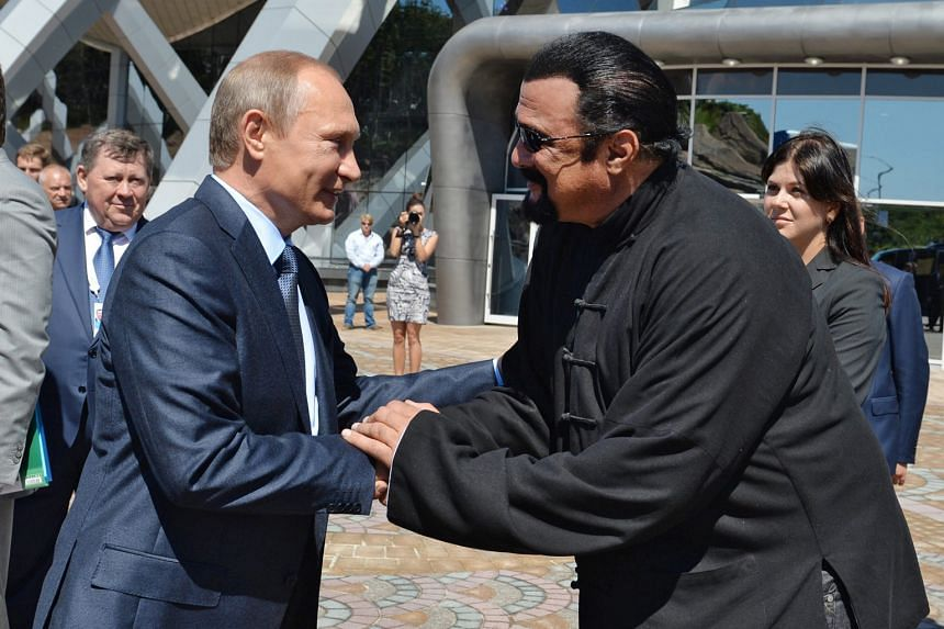 Actor Steven Seagal (right) is the latest in a string of high-profile Westerners to be granted Russian citizenship after buddying up with President Vladimir Putin.