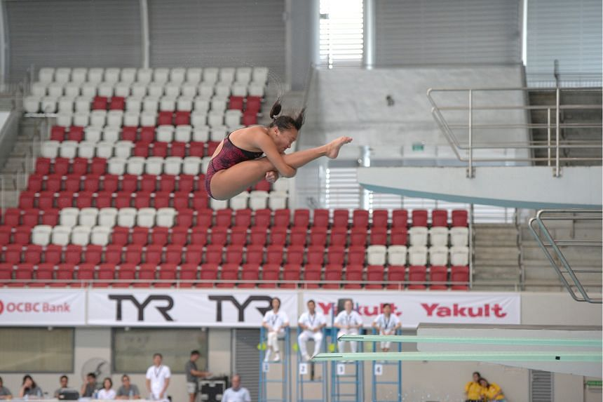 Japan's Hazuki Miyamoto claimed gold yesterday in the women's 3m springboard event of the Fina Diving Grand Prix, after partnering Reo Nishida to the mixed synchronised 3m title on Saturday. The 16-year-old joined fellow Japanese winners Nishida (men