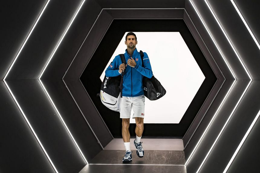 Novak Djokovic before his quarter-final against Marin Cilic at the Paris Masters on Friday. Cilic won 6-4, 7-6 (7-2) to prevent the Serb from retaining the world No. 1 ranking he had held for 28 months.