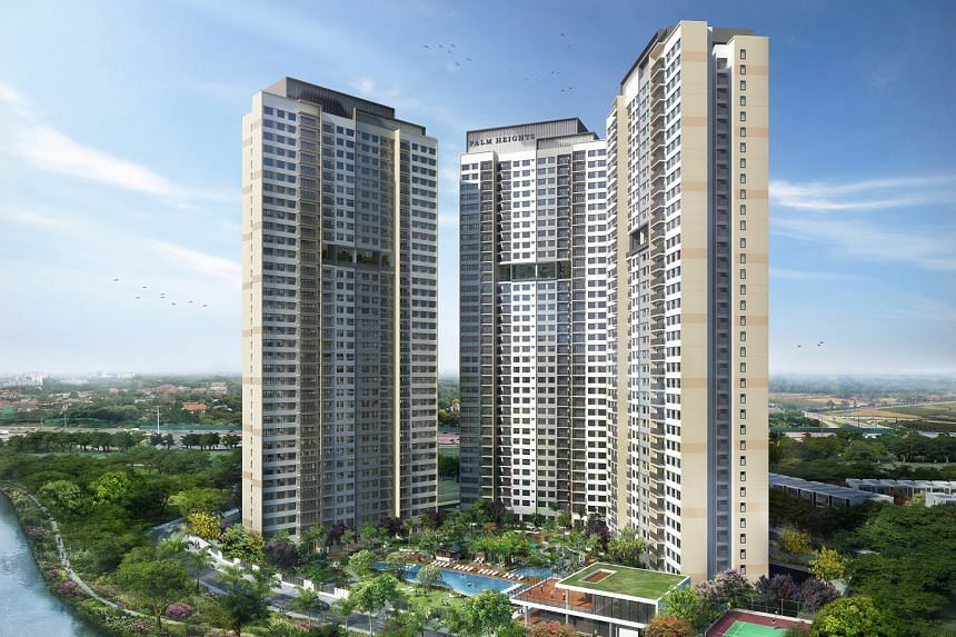 An artist's impression of the 816-unit Palm Heights project, phase two of Palm City, which was launched last month following good sales response for the landed homes in phase one.