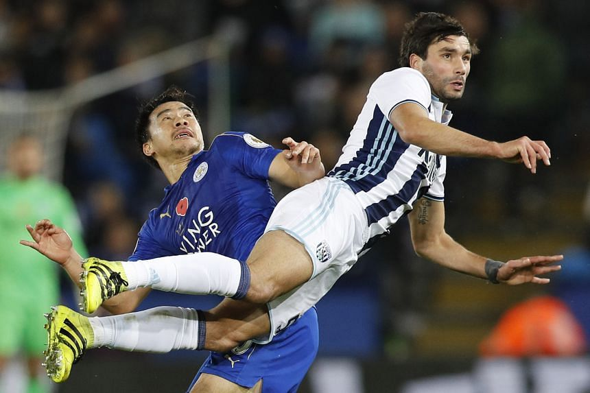 Claudio Yacob challenging Leicester's Shinji Okazaki for the ball in West Brom's 2-1 win at King Power Stadium on Sunday. Claudio Ranieri prefers to start with the Japanese international striker than Jamie Vardy in EPL games. Vardy replaced Islam Sli