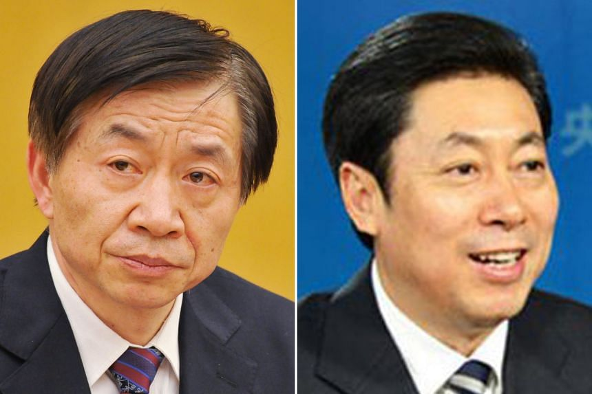 China's new Civil Affairs Minister Huang Shuxian (left) and State Security Minister Chen Wenqing.