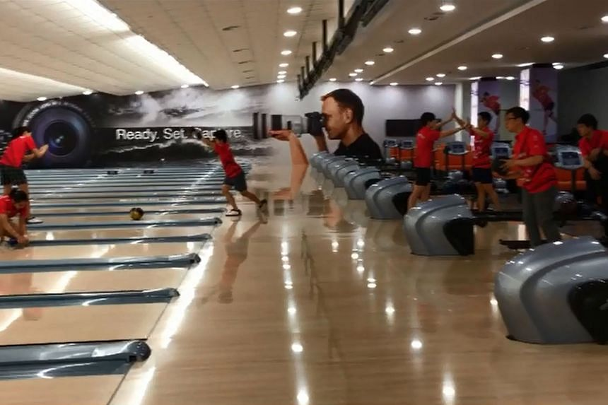 Singapore bowlers in their 47-second Mannequin Challenge which needed just two takes.