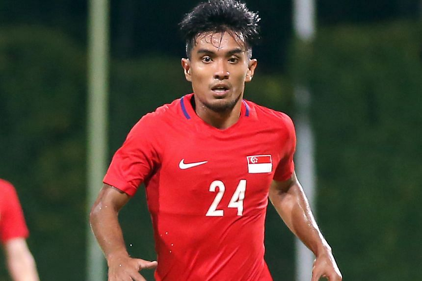 Yasir Hanapi on the ball against Cambodia at Bishan Stadium last Sunday. His second-half goal made all the difference in Singapore's 1-0 win and he will want more of such outings at the AFF Suzuki Cup starting on Saturday.