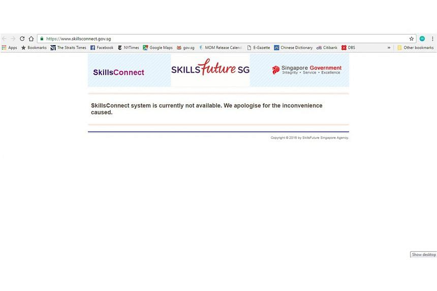 Applications hit by the SkillsConnect outage will have their deadlines extended, says the SkillsFuture Singapore Agency. The portal will be up and running next Monday.