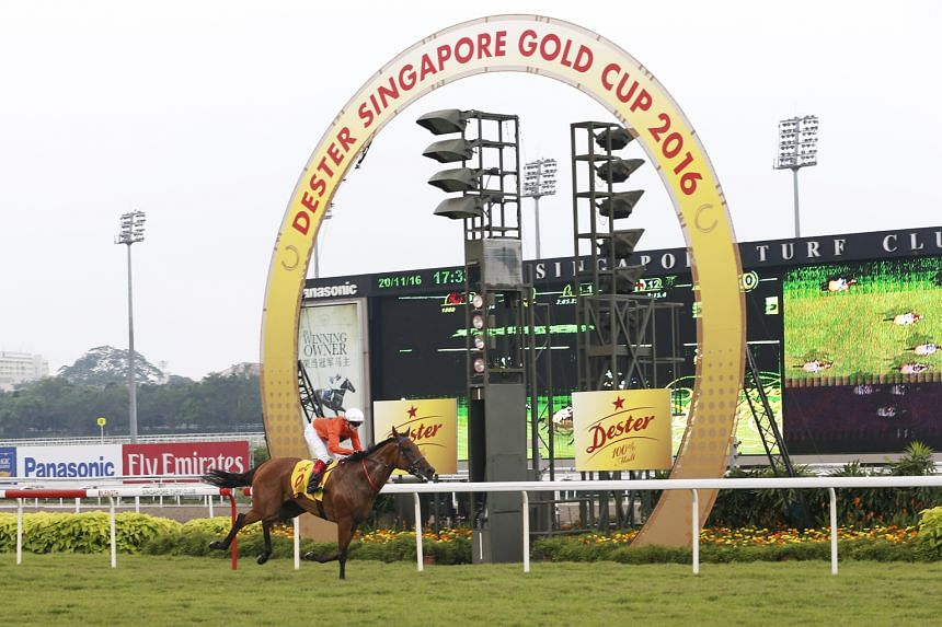 Bahana, carrying just 50.5 kg, winning the 2,200m Singapore Gold Cup by 11/2 lengths in 2min 17.42sec. The five-year-old Kiwi gelding handed Australian jockey Craig Williams his first Group 1 victory in Singapore.