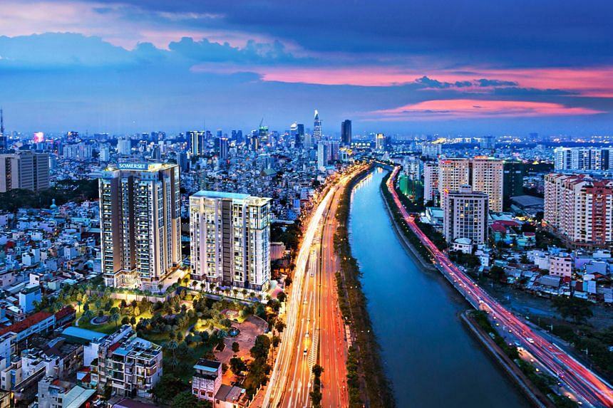 D1mension, CapitaLand's development in Ho Chi Minh City's prime District 1. Adjacent to the 102-unit residential tower is a 200-unit serviced residence block, which will be operating under the Somerset brand. Singapore-based CapitaLand has been opera