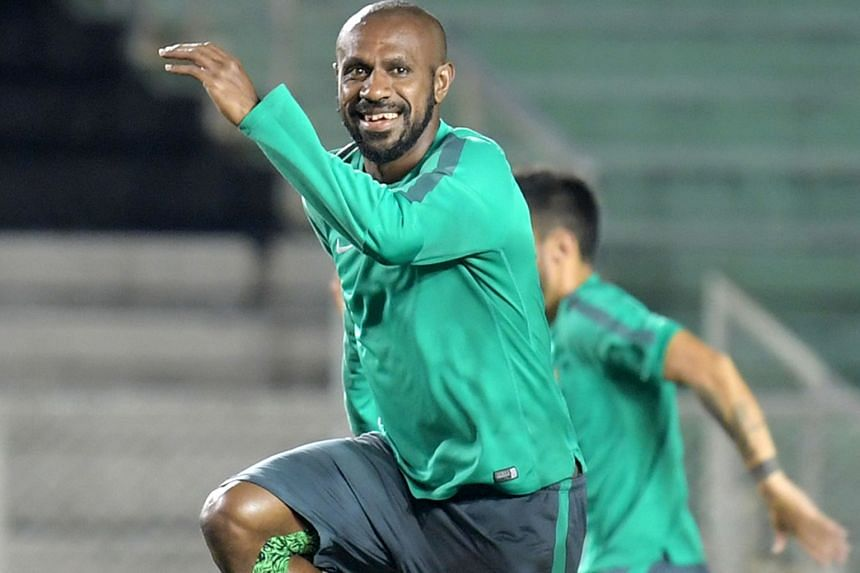 Indonesia captain Boaz Solossa training with his team at the Rizal Memorial Stadium, where they face Singapore tonight. While they are bottom of Group A, the underdogs have entertained fans with their attractive, offensive football.