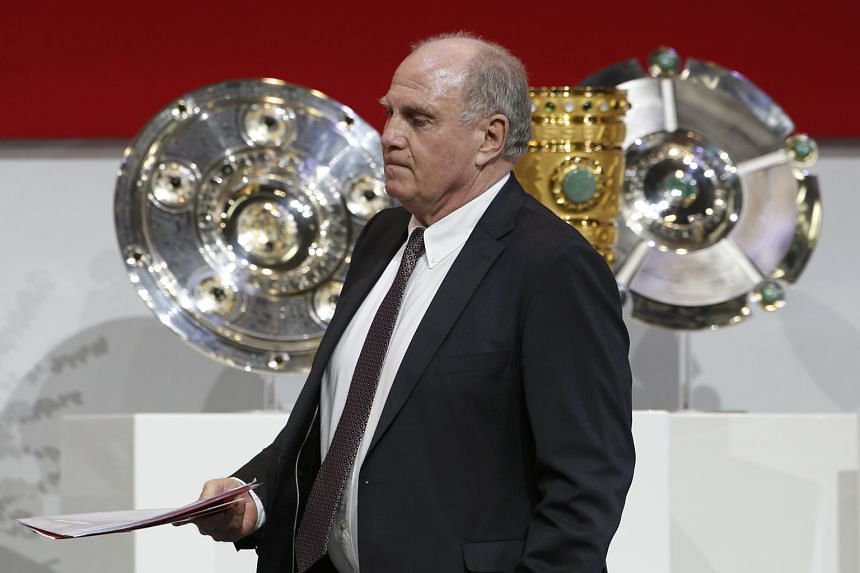 Bayern Munich president Uli Hoeness being re-elected at the Bundesliga giants' annual general meeting. He has tasked himself with seeing off the challenge of pretenders to the throne RB Leipzig.