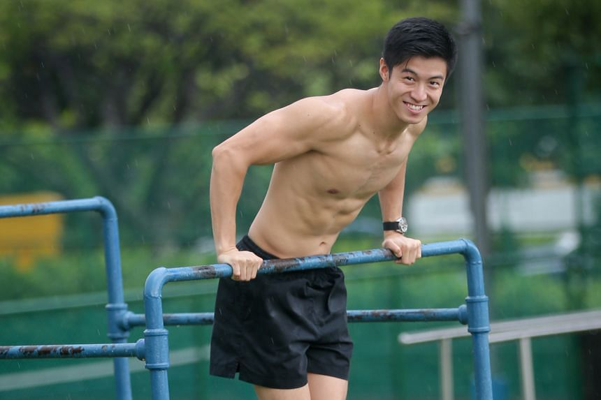 Mr Liu once did 1,000 pull-ups every week for three months to challenge himself.