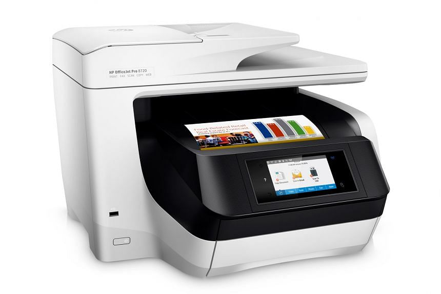 The HP OfficeJet Pro 8720 All-in-One Printer comes with a modern, intuititve touch-based interface.
