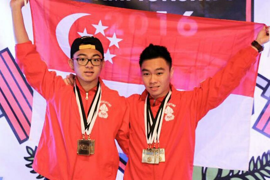 Matthew (left) and Marcus Yap combined for four gold medals apiece at the Asia/Oceania Powerlifting Championships held in Christchurch. Each of the 14-strong contingent claimed medals at the meet.