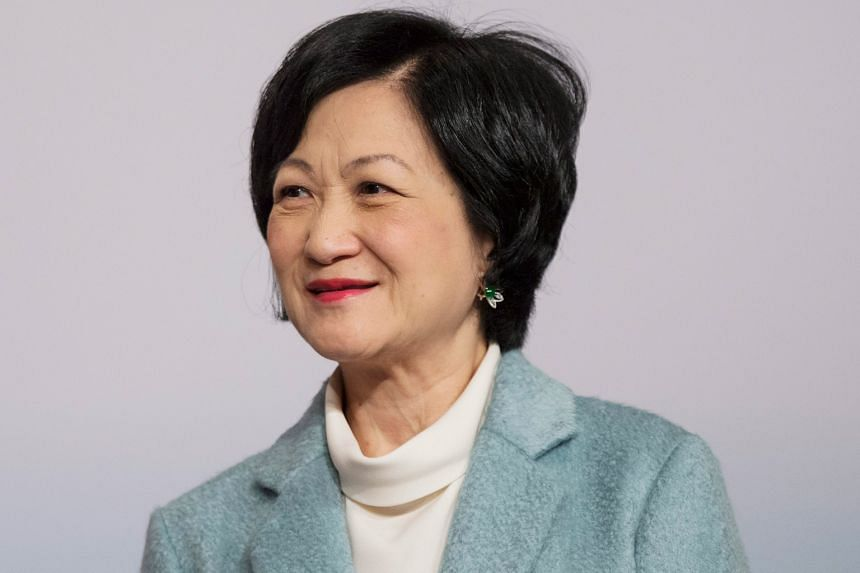 """Hong Kong's former security chief Regina Ip (above) said yesterday she wants to """"win back"""" Hong Kong as she officially announced her bid to join the city's chief executive race."""