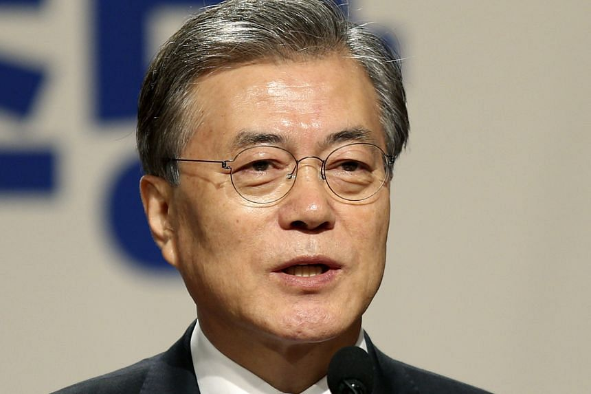 Mr Moon topped a poll of possible presidential candidates by Realmeter, with 24 per cent.