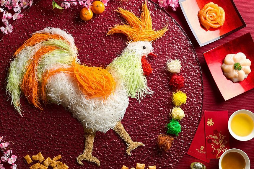 Ring in the Year of the Rooster with Hai Tien Lo's Flourishing Wealth Reunion Yu Sheng Platter.