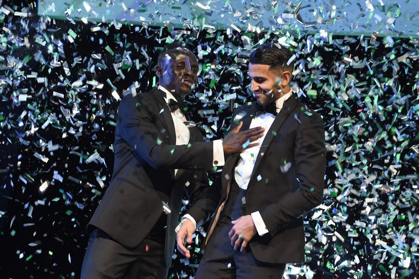 Newly-crowned African Player of the Year Riyad Mahrez (right) will be leading his team Algeria in a tough Africa Cup of Nations Group B battle against a Senegal side that contains Liverpool winger Sadio Mane (left). Both sides are favoured to reach t