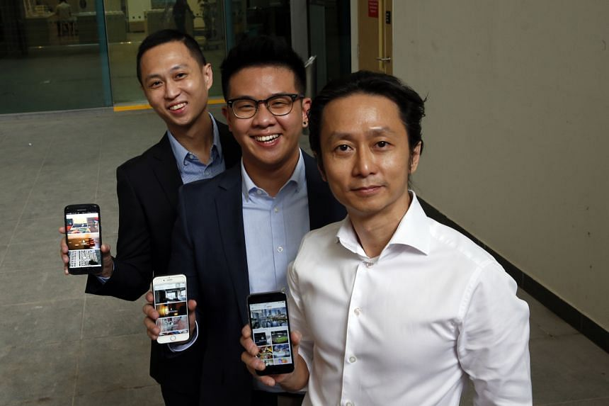 Luppi's founder Mark Wong (at right), with chief technology officer, Matthew Luo (centre), and co-founder Nicholas Wong. They hope to draw at least 10 per cent of Singapore's 393,000 licensed professionals to come on board by the end of the year.