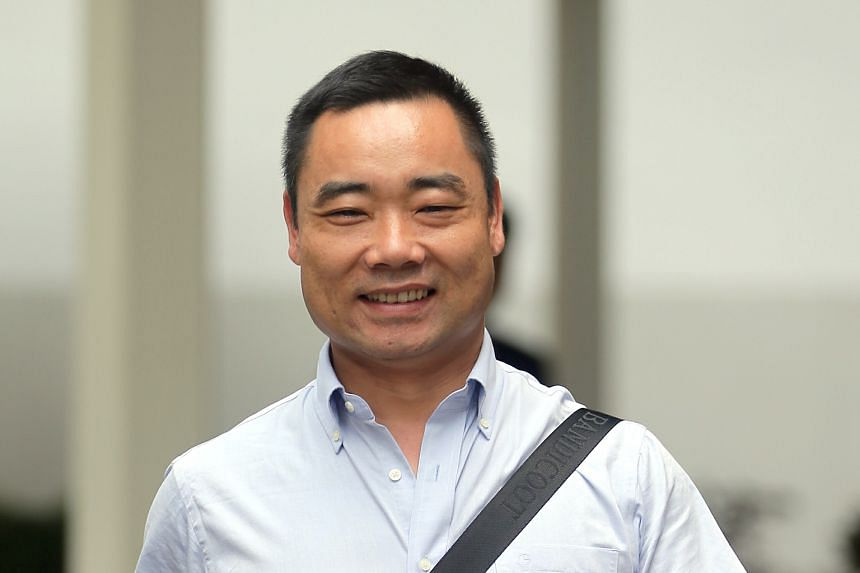 Mr Zhang (above) had been accused of driving a public bus above the speed limit before losing control of it (left).