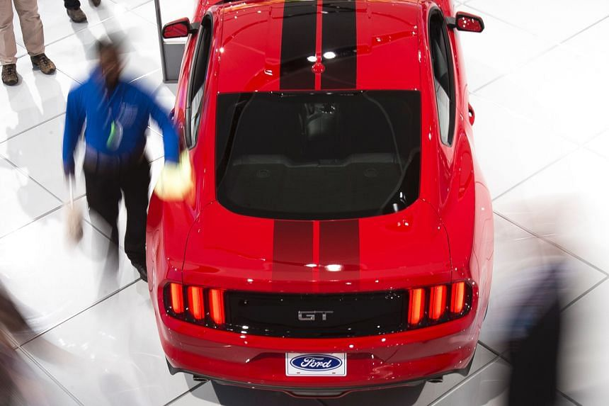 A Ford Mustang GT at the North American International Auto Show in Detroit, Michigan.