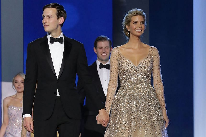 Ms Trump and her husband Jared Kushner at the Freedom Ball in Washington, DC.