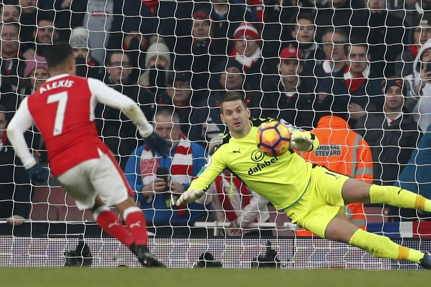 "Alexis Sanchez scoring in the 98th minute with a ""Panenka"" penalty. Arsenal eked out a 2-1 victory over Burnley to go second in the Premier League."