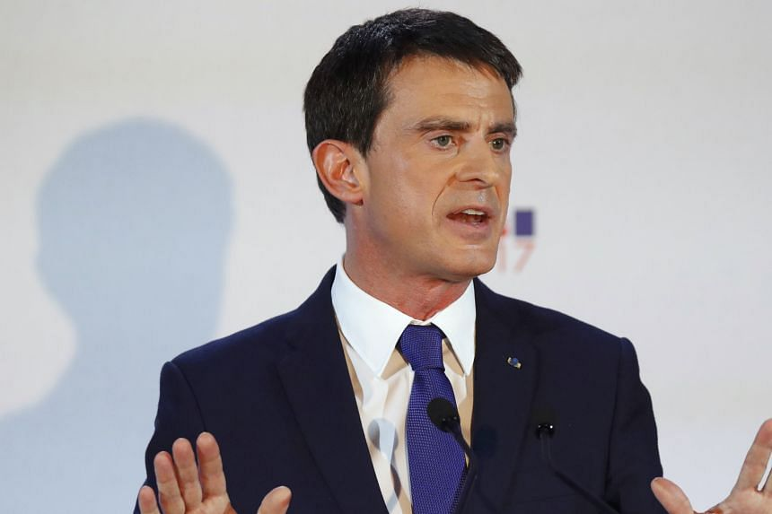 The Socialist primary has been billed as a fight for the party's soul, with a left-leaning faction represented by Mr Hamon (top) battling Mr Valls' (above) centrist camp.