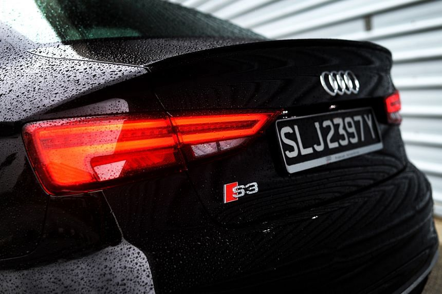 The facelifted Audi S3 Sedan comes with restyled lights, with full LED for the headlamps, as well as tweaks to its front grille and bumpers.