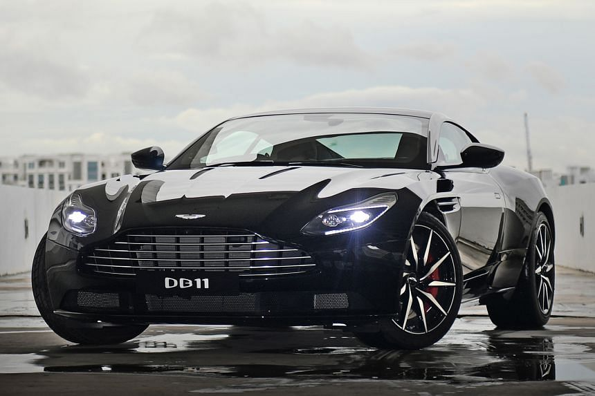 The Aston Martin DB11 is equipped with an all-new 5.2-litre twin-turbo V12 engine with 600bhp and 700Nm of torque.