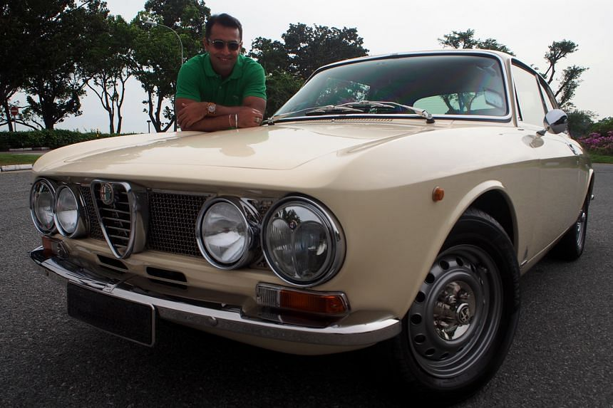 Mr Terry Smagh with his restored 1972 Alfa Romeo GTV 2000. He sourced for parts online and abroad.